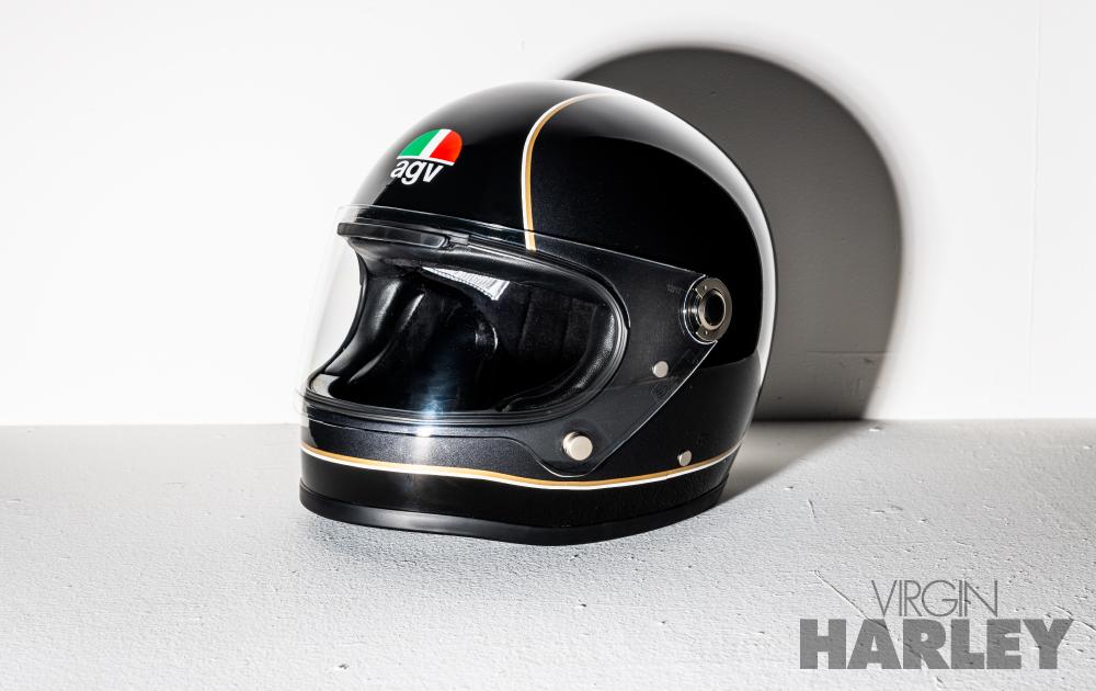 ハーレーのヘルメットにagvのヘリテイジモデル agv legends x3000 を