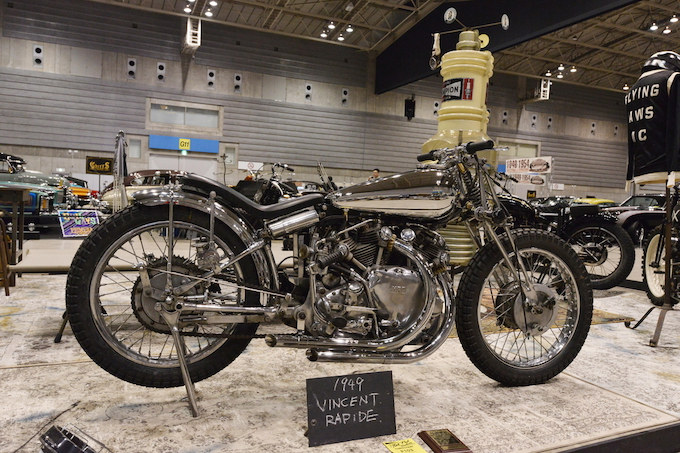 JEFF DECKER'S PICKとJEFF LEIGHTON'S PICKを獲得したJURASSIC CUSTOMSの1949年式VINCENT RAPIDE。