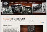 ハーレー本国サイトの歴史年表の画像