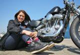 女子大生ハーレー乗り、MAKIさんのインタビュー(2009年式XL883)の画像