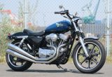 ストリートバイクをイメージし、スポーツスター883ローをカスタムの画像